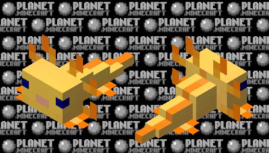 Yellow Axolotl Minecraft Skin
