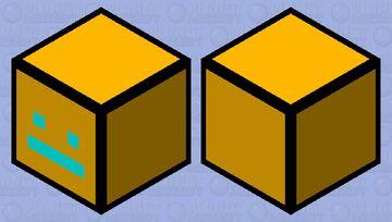 Geometry Dash Cube Minecraft Mob Skin