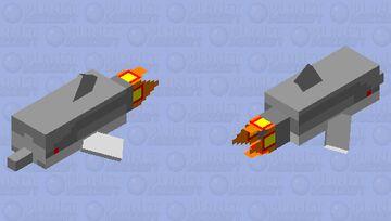 flying underwater hi-tech dolphin torpedo Minecraft Mob Skin