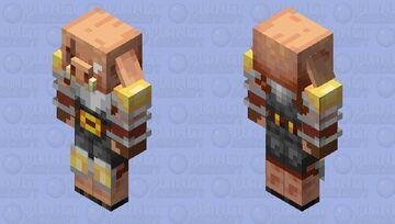 Remade Piglin Brute Minecraft Mob Skin