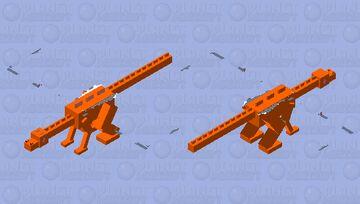 Bearded dragon Minecraft Mob Skin