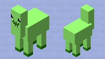 Bunchie/Green Llama actual llama version Minecraft Mob Skin