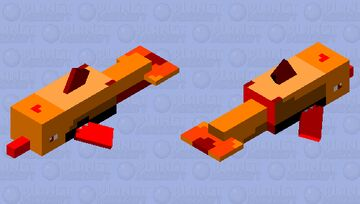 Fire Dolphin Minecraft Mob Skin