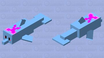 Bow dolphin Minecraft Mob Skin