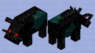Warped Darkness Hoglin Minecraft Mob Skin