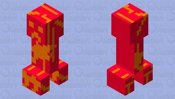 Lava creeper! Minecraft Mob Skin