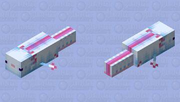 Giant Cyan Axolotl Minecraft Mob Skin