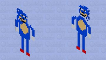 Sanic sez put on some golden Rings or I'll stab you Minecraft Mob Skin