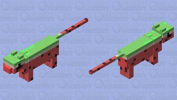 Watermelon kitty Minecraft Mob Skin