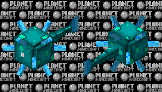 Glow Guardián Minecraft Skin