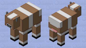 Simplistic Brown Mooshroom Minecraft Mob Skin