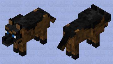German Sheperd wolf skin Minecraft Mob Skin