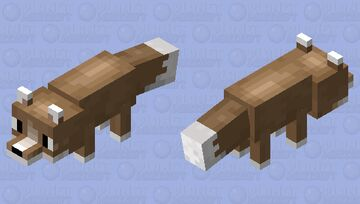 :0 Coffee Foxie with nose stripe Minecraft Mob Skin