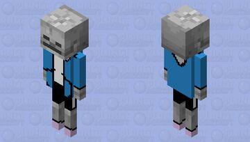 Realistic Sans Minecraft Mob Skin