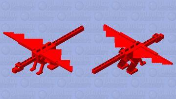 red dragon (the 10 pular boss) Minecraft Mob Skin