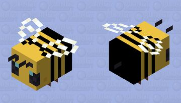 Cartoon Bee Minecraft Mob Skin