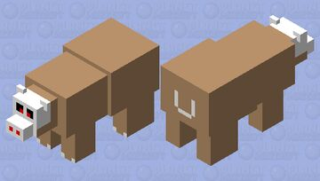 Pizzly Bear Minecraft Mob Skin
