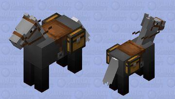 Black & white horse Minecraft Mob Skin