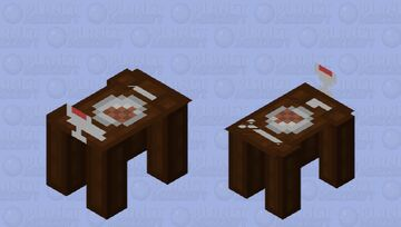 Dinner Table Household Item Cow Mob Skin Minecraft Mob Skin