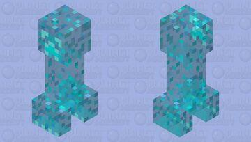 Crystal Creeper Minecraft Mob Skin