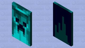 blue creeper cape Minecraft Mob Skin
