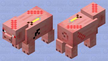 Damaged Pig Minecraft Mob Skin
