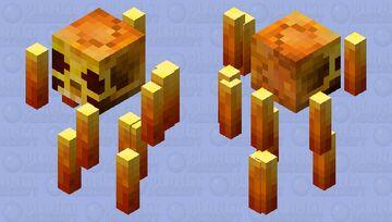 Blaze Skull Minecraft Mob Skin