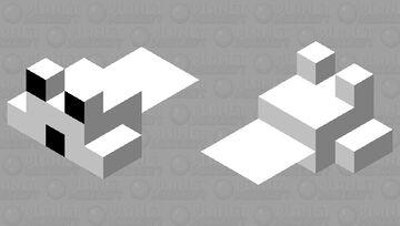 Black & white pufferfish (small) Minecraft Mob Skin