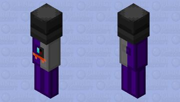 The purple imposter Minecraft Mob Skin
