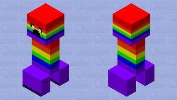 Rainbow Creeper Minecraft Mob Skin