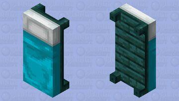 Nether Bed (Warped Wood) Minecraft Mob Skin
