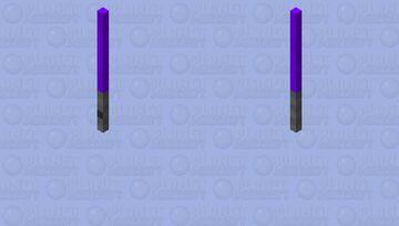 Purple lightsaber Minecraft Mob Skin
