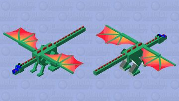Glory Dragon (Wings of Fire Ender Dragon GIFT) Minecraft Mob Skin