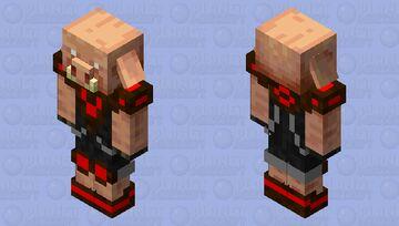 Hyper Tech Piglin Minecraft Mob Skin