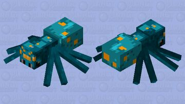 fungus spider (no fungus) Minecraft Mob Skin