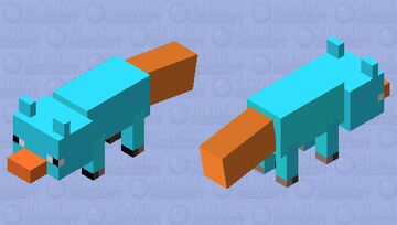 Perry the platypus Minecraft Mob Skin