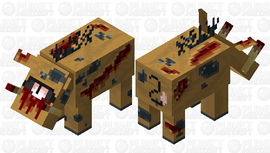 N𝖎𝖌𝖍𝖙𝖒𝖆𝖗𝖊 H𝖔𝖌𝖑𝖎𝖓, But with a decreased resoultion to enter the Nether Nightmares Minecraft Skin