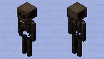 Stylized Wither Skeleton Minecraft Mob Skin