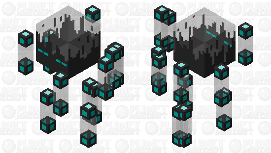 Black Ice Blaze Minecraft Skin