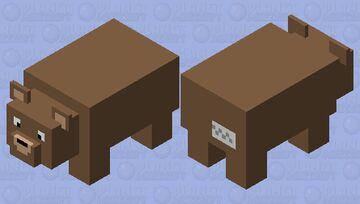 Big Teddy Bear (with tag) Minecraft Mob Skin