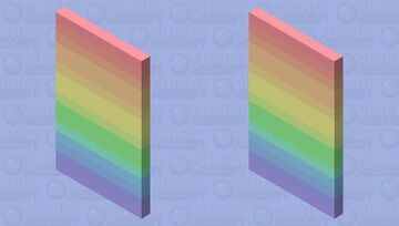 Pastel rainbow cape Minecraft Mob Skin