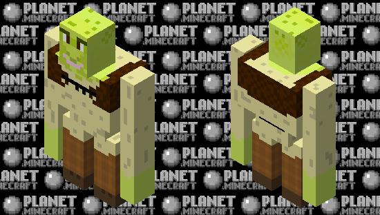 iron golem Shrek Minecraft Skin