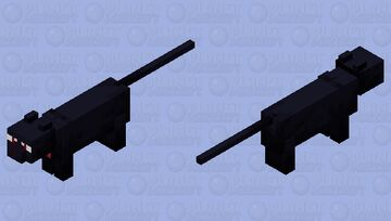 Luna(sailor moon with bow)|cat skin Minecraft Mob Skin