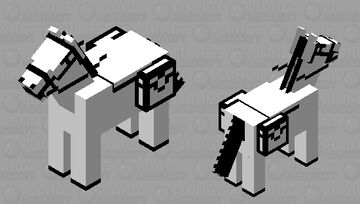 Black & white horse (you thought I stopped doing them but your wrong!) Minecraft Mob Skin