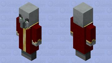 Red Robe Evoker Minecraft Mob Skin