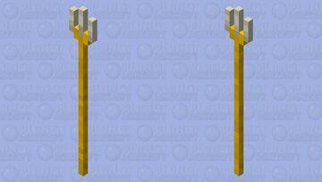 Golden trident Minecraft Mob Skin