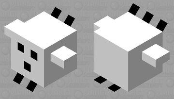 Black & white pufferfish (medium) Minecraft Mob Skin