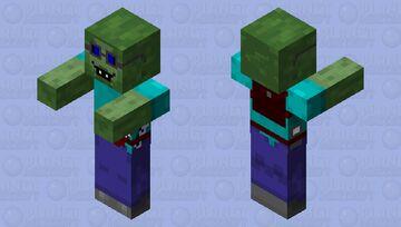 Zombie intello 2.0 Minecraft Mob Skin