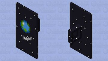 PMC logo with meteor and stars on space Shield Minecraft Mob Skin