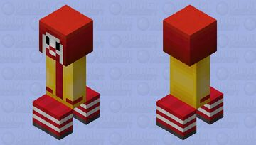 Ronald McDonald creeper Minecraft Mob Skin